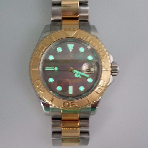 Rolex Yacht-Master 18K Gold and Steel Tahitian Dial