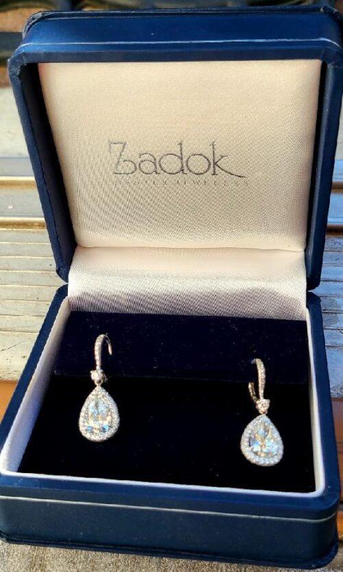 4.02 Carat Pear Brilliant diamond Earrings GIA Certificate # 5206164015