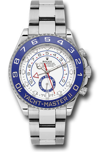 Rolex Style No: 116680 Rolex Steel Yacht-Master II 44 Watch – Matt White Dial